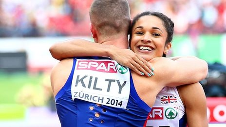 Richard Kilty and Jodie Williams