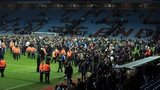 Fans on the Villa Park pitch after Aston Villa's FA Cup quarter-final win over West Brom