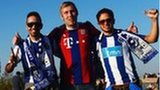 Bayern and Porto fans