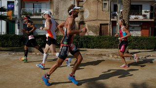 An Ironman finishes with a marathon