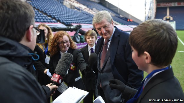 Roy Hodgson being interviewed