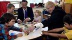 David Cameron and Boris Johnson do a jigsaw