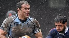 Jamie Roberts in Cardiff Blues action