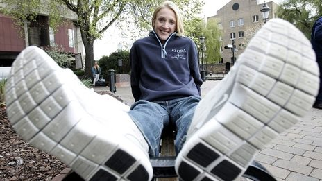 Paula Radcliffe the day after winning the London Marathon in 2005