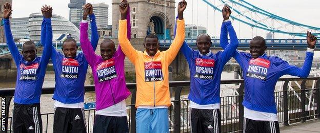 London Marathon men's elite field