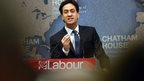 Labour leader Ed Miliband at Chatham House in London, England.