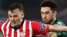 Derry's Seanan Clucas and Roberto Lopes of Bohemians