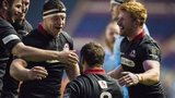 Edinburgh celebrate their victory over Zebre