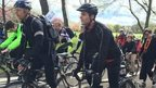 Thousands of cyclists are taking part in today's event