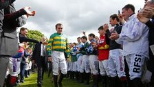 Jockeys' guard of honour for AP McCoy