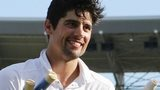 Alastair Cook celebrates England's victory