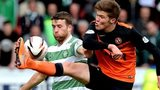 Celtic's Adam Matthews and Dundee United's Blair Spittal