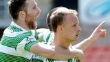 Celtic celebrate Leigh Griffiths' goal