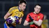 Roscommon's Enda Smith and Down forward Conor Garvey
