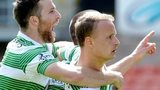 Leigh Griffiths celebrates opening the scoring for Celtic