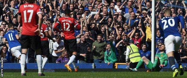 Kevin Mirallas scores Everton's third