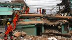 Indian rescue personnel search for survivors in a Kathmandu building 26/05/2015