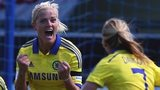 Katie Chapman celebrates her goal against Birmingham City