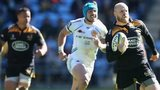 Wasps scrum-half Joe Simpson broke away to score a late try at the Ricoh