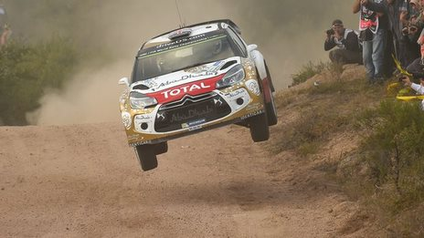 Kris Meeke in action in Rally Argentina