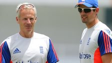 James Anderson, Peter Moores and Alastair Cook