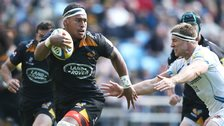 Number eight Nathan Hughes on the charge for Wasps in Sunday's win over Exeter
