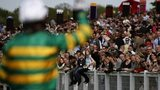 Jockey AP McCoy waves farewell at Sandown