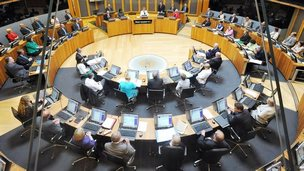 David Cameron addresses the Welsh Assembly