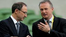 Republic boss Martin O'Neill with NI manager Michael O'Neill