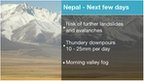 Nepal forecast headlines