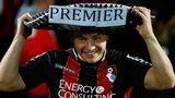 A Bournemouth fan celebrates