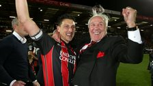 Bournemouth Chairman Jeff Mostyn (right) and Tommy Elphick