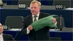 MEP holds up plastic bag