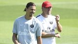 PSG's Laurent Blanc and Zlatan Ibrahimovic