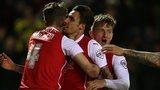 Matt Derbyshire celebrates scoring for Rotherham