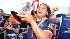 Isa Nacewa ended his first stint with Leinster by winning the Pro12 title in 2013