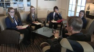 David Cornock and the School Reporters