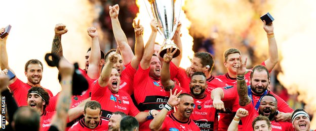 Toulon celebrated with the European Champions Cup