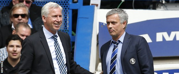Alan Pardew and Jose Mourinho