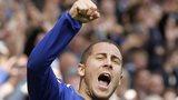 Eden Hazard celebrates after scoring