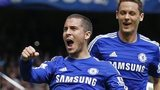 Eden Hazard celebrates after scoring