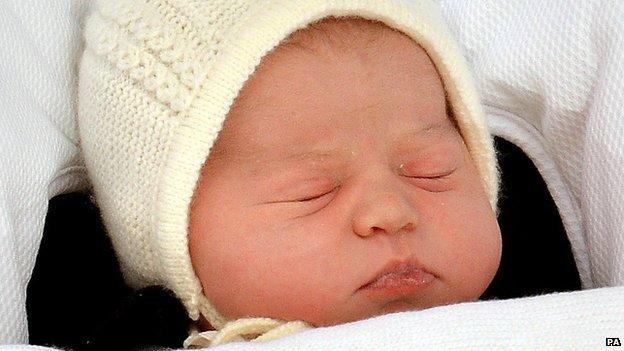 Royal baby: Queen meets great-granddaughter