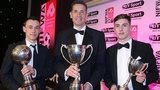 Paul Heatley, Stephen Baxter and Gavin Whyte with their awards