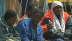 Rescued migrants in Catania, Sicily. Photo: 5 May 2015