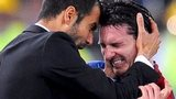 Pep Guradiola and Lionel Messi