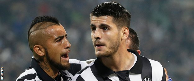 Arturo Vidal and Alvaro Morata