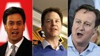 Miliband Clegg Cameron