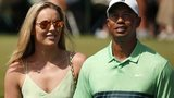 Lindsey Vonn with Tiger Woods