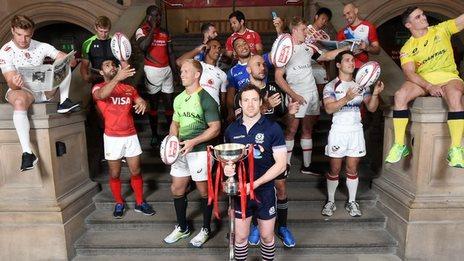 The Glasgow 7s captains gather