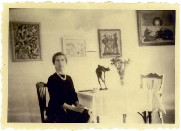 Helene Beltracchi posing as her grandmother in a fake photograph
